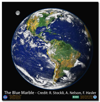 The Big Blue Marble Earth